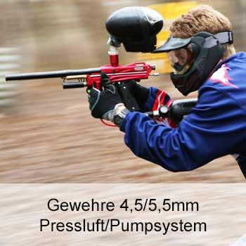 Zu unseren Pressluft/Pumpsystem Gewehren 4,5/5,5mm