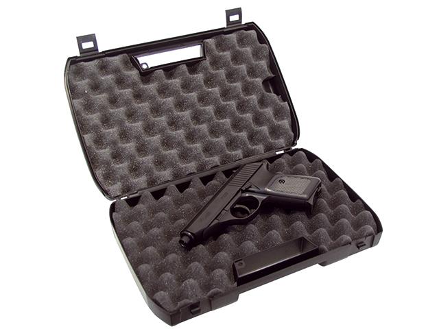 koffer f r sig kurzwaffen schwarz mit schaumstoff einlagen. Black Bedroom Furniture Sets. Home Design Ideas